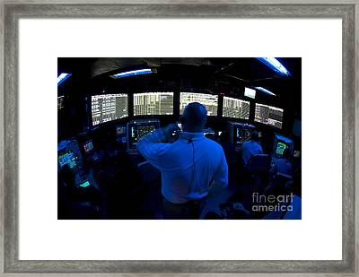 Air Traffic Controller Watches Framed Print