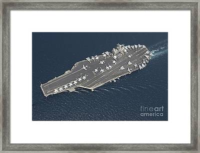 Aircraft Carrier Uss George Washington Framed Print