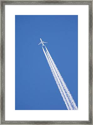 Aircraft Contrail Framed Print by Duncan Shaw