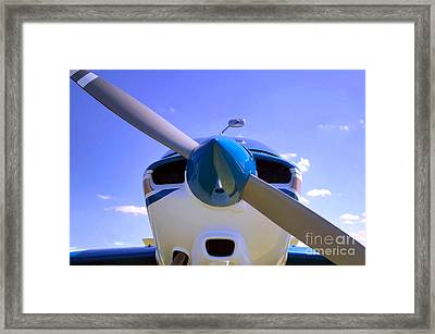 Aircraft Nose Cone. Framed Print by Richard Thomas