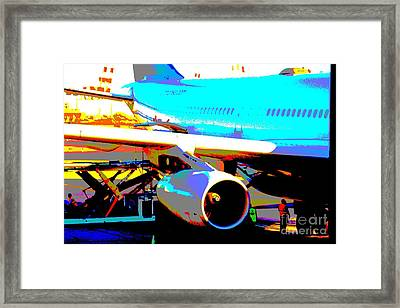 Aircraft On The Ground Framed Print by Rogerio Mariani