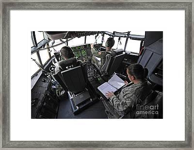 Aircrew Perform Preflight Checklists Framed Print by Stocktrek Images
