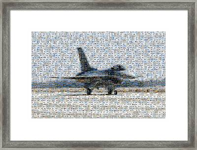 Airforce F-4866 Mosaic  Framed Print by Darleen Stry