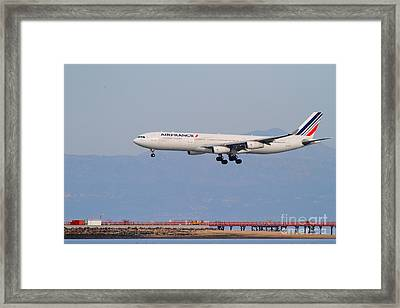Airfrance Airlines Jet Airplane At San Francisco International Airport Sfo . 7d12219 Framed Print