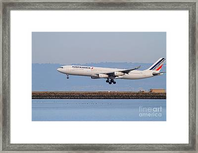 Airfrance Airlines Jet Airplane At San Francisco International Airport Sfo . 7d12223 Framed Print