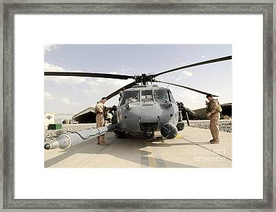 Airmen Conduct A Routine Preflight Framed Print by Stocktrek Images