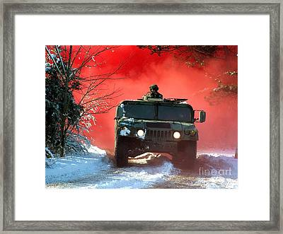 Airmen Respond To An Ambush Framed Print by Stocktrek Images
