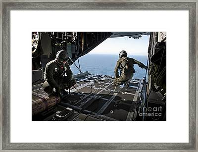 Airmen Wait For The Signal To Deploy Framed Print by Stocktrek Images
