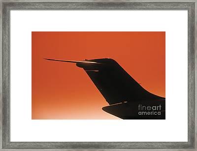 Airplane Framed Print by Juan  Silva