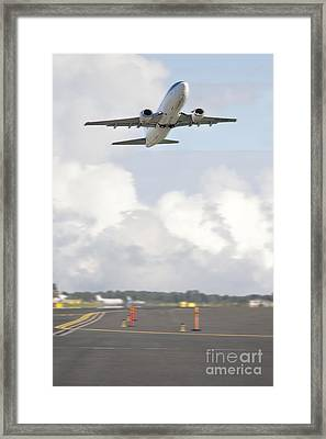 Airplane Taking Off Framed Print by Jaak Nilson