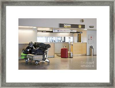 Airport Baggage Area Framed Print by Jaak Nilson