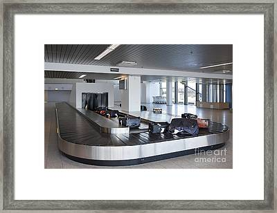 Airport Baggage Claim Framed Print