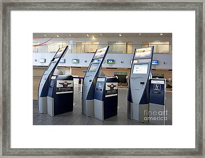 Airport Check In Terminals Framed Print by Jaak Nilson