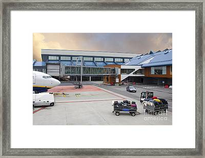 Airport Gate Arrival Framed Print by Jaak Nilson