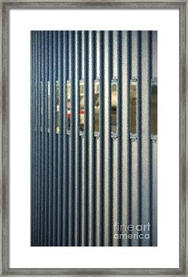 Airport Jetway Framed Print by Gwyn Newcombe
