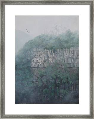 Airs Of My Country With Condor Framed Print by Ricardo Morales-Hendry