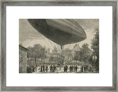 Airship Powered By An Electric Motor Framed Print by Everett