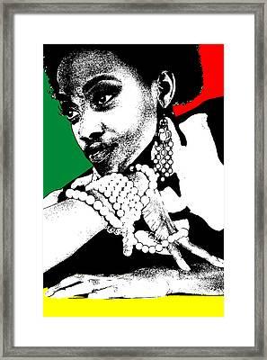 Aisha Jamaica Framed Print by Naxart Studio
