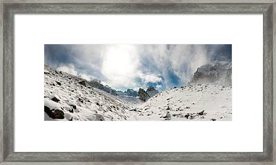 Aksai Glacier Framed Print by Konstantin Dikovsky
