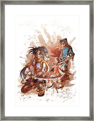 Aku Soku Zan 2 Framed Print by Tuan HollaBack