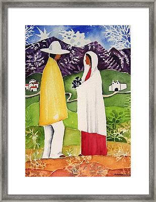 Al Empezar Framed Print by Regina Ammerman