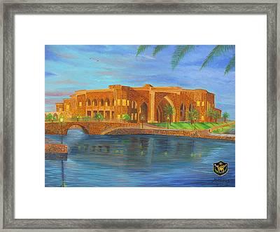 Al Faw Palace Framed Print by Michael Matthews