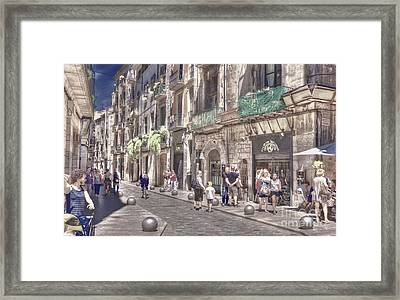 Framed Print featuring the photograph Al Fresco - Girona Spain by Jack Torcello