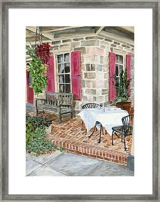Al Fresco At The Carversville Inn Framed Print