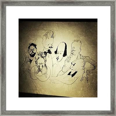Al Hirschfeld's Original Drawing For Framed Print