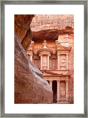 al-Khazneh Framed Print by Jane Rix