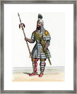 Al-malik Al-adil, Kurdish General Framed Print by Chris Hellier