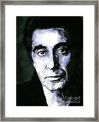 Al Pacino  Framed Print by Andrzej Szczerski