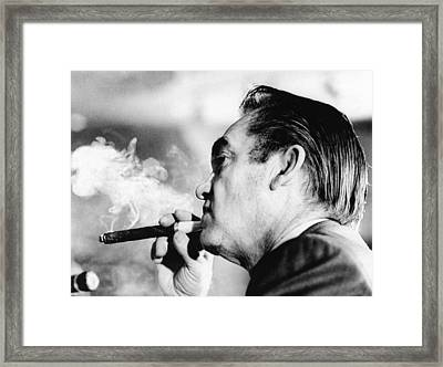 Alabama Gov. George Wallace Puffs Framed Print
