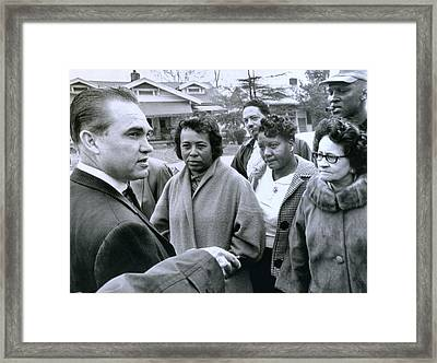 Alabama Gov. George Wallace Talks Framed Print by Everett