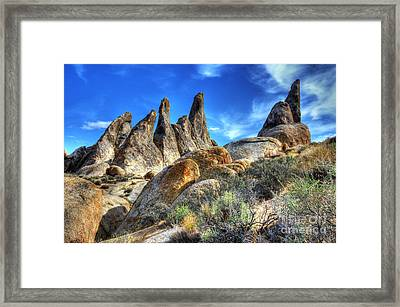 Alabama Hills Granite Fingers Framed Print by Bob Christopher