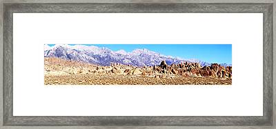 Alabama Hills Panorama Framed Print by Michael Courtney