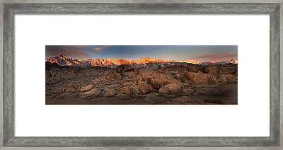 Alabama Hills Sunrise Framed Print