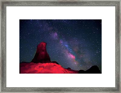 Alabama Hills Tower And Milky Way Framed Print by Bill Wight CA