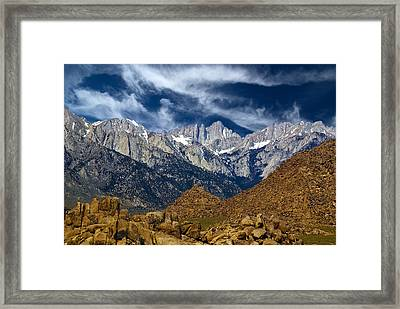 Alabama Hills With Mt Whitney In Background, California, Usa, May 2008 Framed Print by Bill Wight