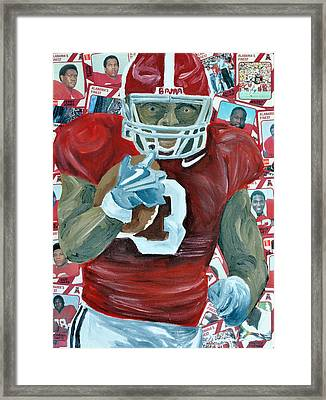 Alabama Running Back Framed Print by Michael Lee