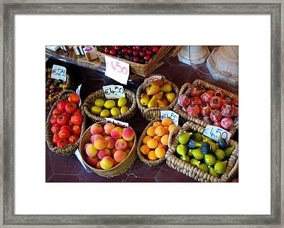 Alabaster Fruit Framed Print by Carla Parris