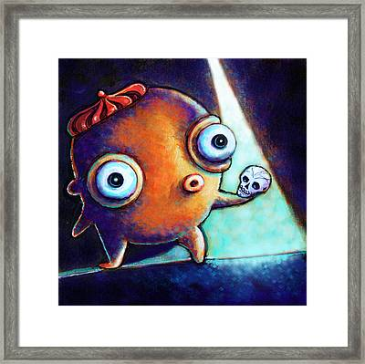 Framed Print featuring the painting Alas Poor Yorick by Leanne Wilkes