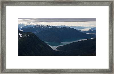 Alaska Coastal Serenity Framed Print by Mike Reid