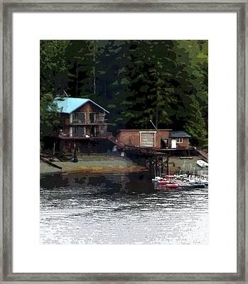 Alaska Fishing  Framed Print by Mindy Newman