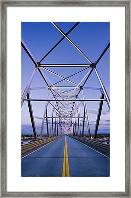 Alaska Native Veterans Honor Bridge Framed Print by Yves Marcoux