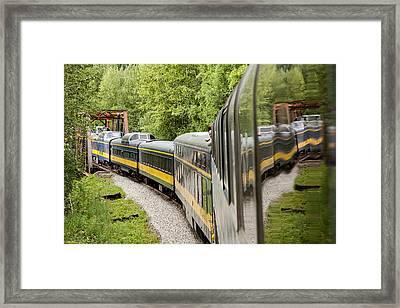 Alaska Railroad Four Framed Print by Josh Whalen