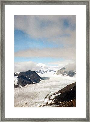 Framed Print featuring the photograph Alaskan Glacier by C Sitton