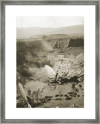 Alaskan Hydraulic Gold Mining Used Jets Framed Print