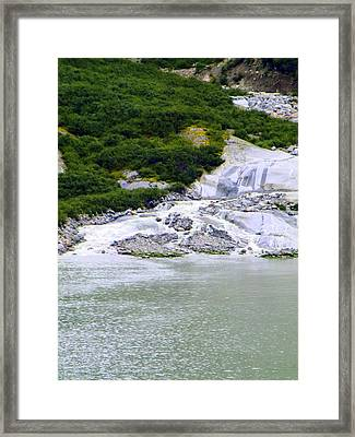 Alaskan Ice Melt Framed Print by Mindy Newman