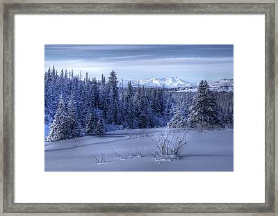 Framed Print featuring the photograph Alaskan Winter Landscape by Michele Cornelius